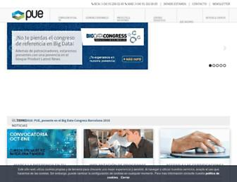 Main page screenshot of pue.es