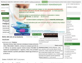 Main page screenshot of naukowy.pl