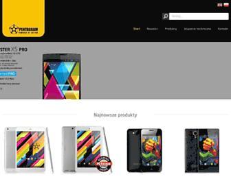 Main page screenshot of pentagram.pl