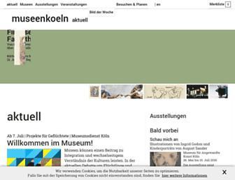 Main page screenshot of museenkoeln.de