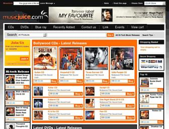 musicjuice.com screenshot