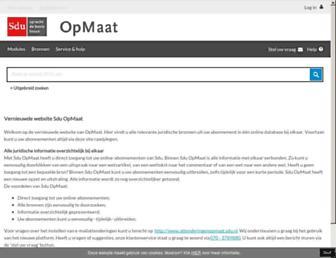 Main page screenshot of sdujurisprudentie.nl