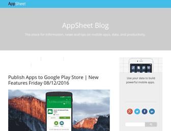 blog.appsheet.com screenshot