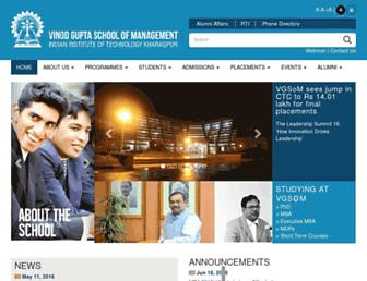Main page screenshot of som.iitkgp.ernet.in