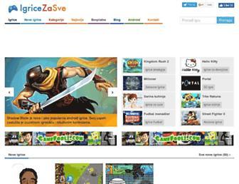 igricezasve.com screenshot