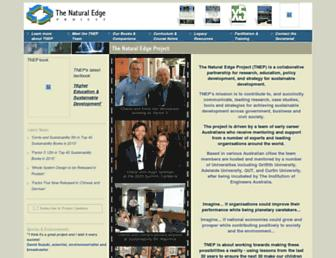 Main page screenshot of naturaledgeproject.net