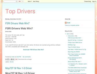 top321-drivers.blogspot.com screenshot