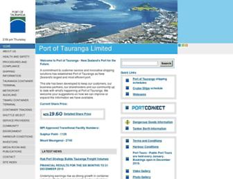 port-tauranga.co.nz screenshot