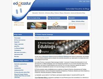 Main page screenshot of blog.educastur.es