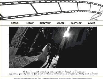 Main page screenshot of wedding-videographer.it
