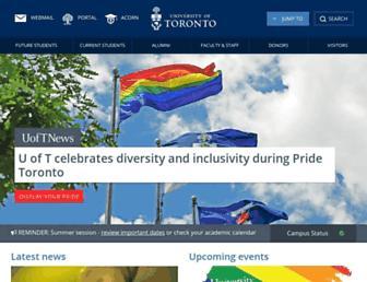 Main page screenshot of utoronto.ca