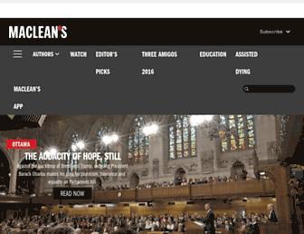 Main page screenshot of www2.macleans.ca