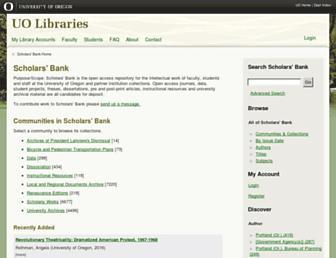 scholarsbank.uoregon.edu screenshot