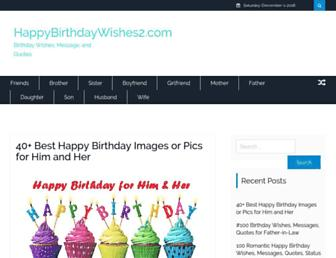 happybirthdaywishes2.com screenshot