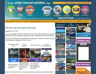 Main page screenshot of wide-format-printers.org