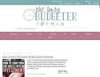 busybudgeter.com screenshot