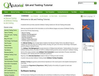 qatutorial.com screenshot