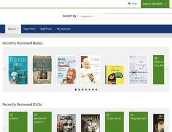 rdpl.bibliocommons.com screenshot