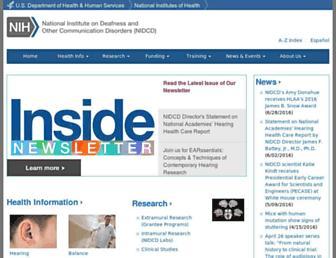 nidcd.nih.gov screenshot