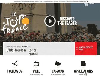 Main page screenshot of letour.fr