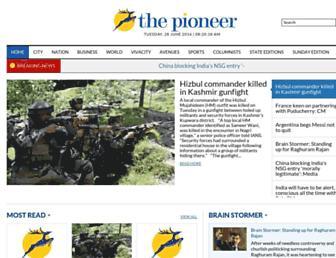 dailypioneer.com screenshot