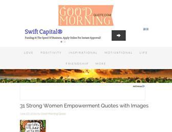 goodmorningquote.com screenshot