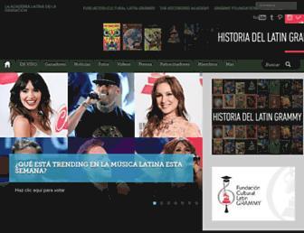 latingrammy.com screenshot