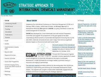 saicm.org screenshot
