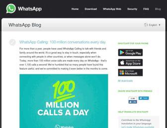 blog.whatsapp.com screenshot