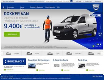 Main page screenshot of dacia.pt