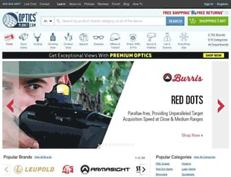 Main page screenshot of opticsplanet.net