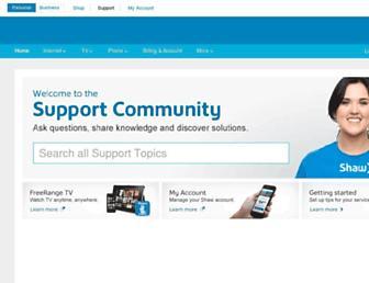 community.shaw.ca screenshot