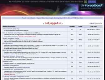 forums.thinkbroadband.com screenshot