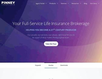 pinneyinsurance.com screenshot