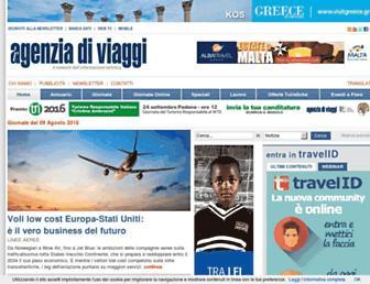 Main page screenshot of lagenziadiviaggi.it
