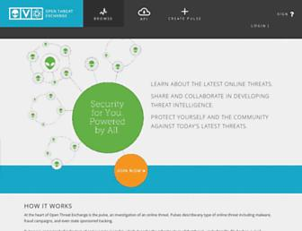 otx.alienvault.com screenshot