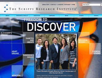 scripps.edu screenshot