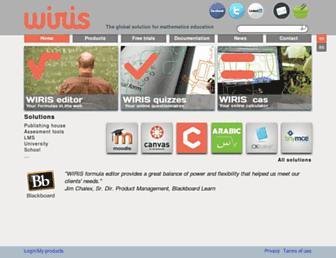 wiris.com screenshot