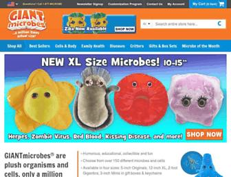 Thumbshot of Giantmicrobes.com