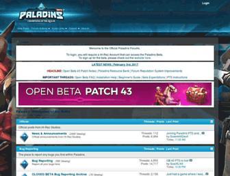 forums.paladins.com screenshot