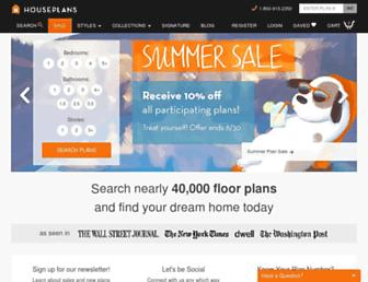 houseplans.com screenshot