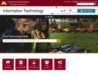 it.umn.edu screenshot