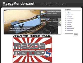 mazdamenders.net screenshot