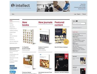 Main page screenshot of intellectbooks.co.uk