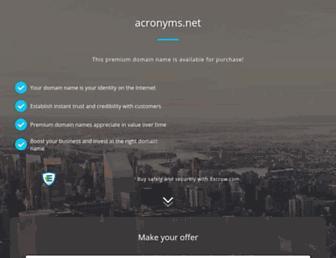 acronyms.net screenshot