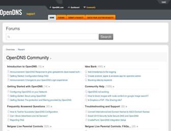 support.opendns.com screenshot