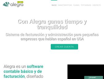 alegra.com screenshot