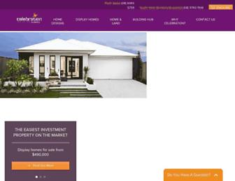 celebrationhomes.com.au screenshot
