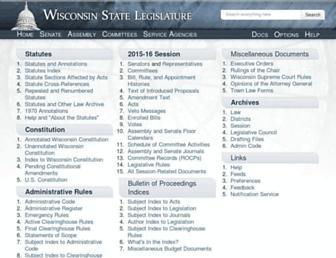 docs.legis.wisconsin.gov screenshot