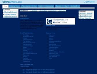 calendarhome.com screenshot